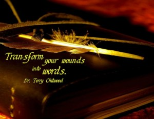 """Transform Your Wounds into Words"" Word-Art Freebie"