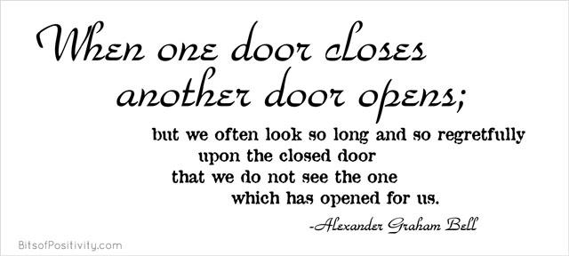 """""""When One Door Closes Another Door Opens"""" Word-Art Freebie"""